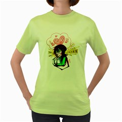 Love is not only Blind Womens  T-shirt (Green) by Contest1739121