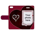 You and Me Apple iPhone 5 Leather Case - Apple iPhone 5 Woven Pattern Leather Folio Case