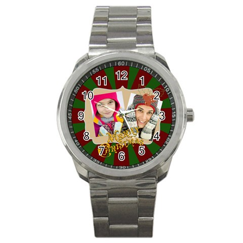 Merry Christmas By Merry Christmas   Sport Metal Watch   Dwi0r3kgwbir   Www Artscow Com Front