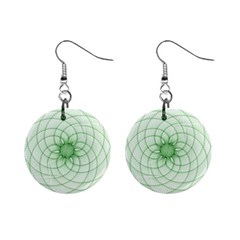 Spirograph Mini Button Earrings by Siebenhuehner