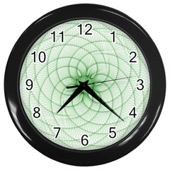 Spirograph Wall Clock (black) by Siebenhuehner