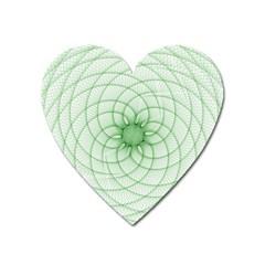 Spirograph Magnet (heart) by Siebenhuehner