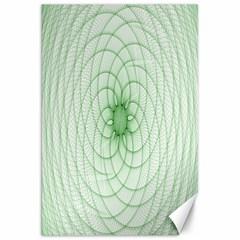 Spirograph Canvas 20  X 30  (unframed) by Siebenhuehner