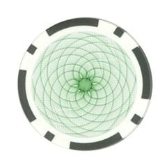 Spirograph Poker Chip by Siebenhuehner