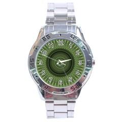 Mandala Stainless Steel Watch (men s) by Siebenhuehner