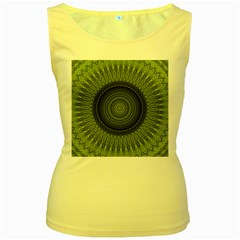 Mandala Womens  Tank Top (yellow) by Siebenhuehner