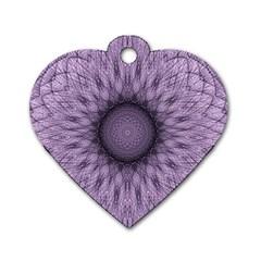 Mandala Dog Tag Heart (one Sided)  by Siebenhuehner