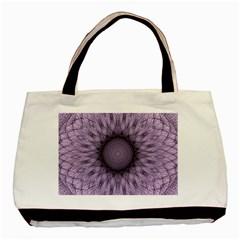 Mandala Twin Sided Black Tote Bag by Siebenhuehner