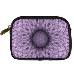 Mandala Digital Camera Leather Case by Siebenhuehner
