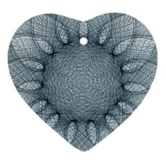 Mandala Heart Ornament (two Sides) by Siebenhuehner
