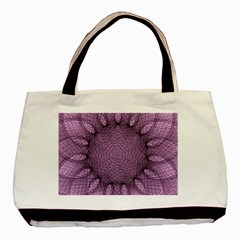 Mandala Twin Sided Black Tote Bag by Siebenhuehner