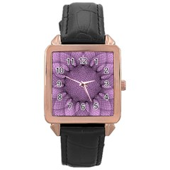 Mandala Rose Gold Leather Watch  by Siebenhuehner