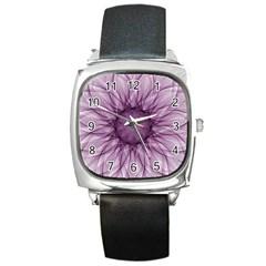 Mandala Square Leather Watch by Siebenhuehner