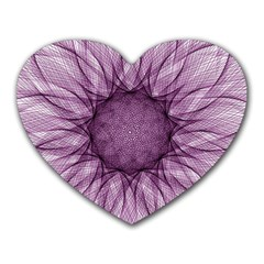 Mandala Mouse Pad (heart) by Siebenhuehner