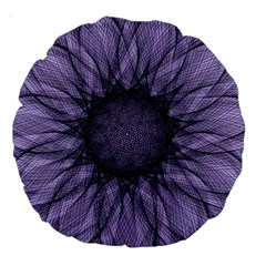 Mandala 18  Premium Round Cushion  by Siebenhuehner
