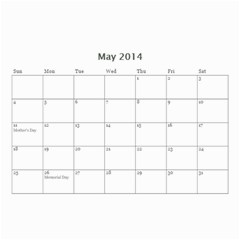 Cmas By Doug   Wall Calendar 8 5  X 6    Xb3lfcs18yk8   Www Artscow Com May 2014