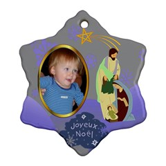 Nativity Snowflake Ornament, 2 Sides By Joy Johns   Snowflake Ornament (two Sides)   Raab0i403k1b   Www Artscow Com Front