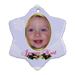 Nativity Snowflake Ornament, 2 Sides By Joy Johns   Snowflake Ornament (two Sides)   Raab0i403k1b   Www Artscow Com Back