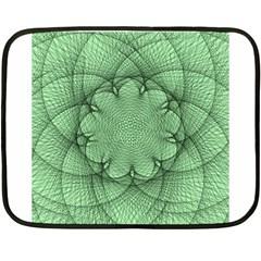 Spirograph Mini Fleece Blanket (two Sided) by Siebenhuehner