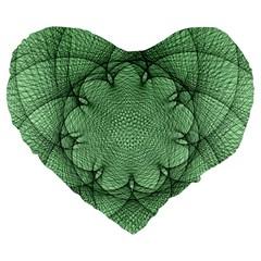 Spirograph 19  Premium Heart Shape Cushion by Siebenhuehner