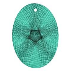 Spirograph Oval Ornament by Siebenhuehner