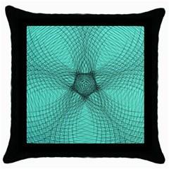 Spirograph Black Throw Pillow Case by Siebenhuehner