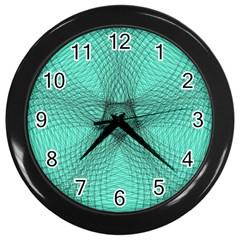Spirograph Wall Clock (black) by Siebenhuehner