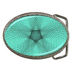 Spirograph Belt Buckle (oval) by Siebenhuehner
