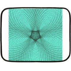 Spirograph Mini Fleece Blanket (two Sided) by Siebenhuehner