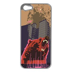 Urban Bear Apple Iphone 5 Case (silver) by Contest1738792
