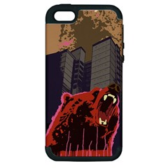 Urban Bear Apple Iphone 5 Hardshell Case (pc+silicone) by Contest1738792