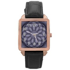 Spirograph Rose Gold Leather Watch