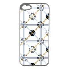 Circle Connection Apple Iphone 5 Case (silver) by ContestDesigns