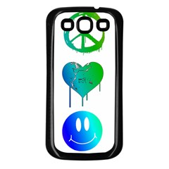 Peace Love And Happiness Samsung Galaxy S3 Back Case (black) by TheTalkingDead
