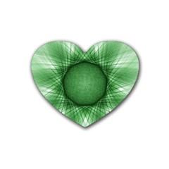 Spirograph Drink Coasters (heart) by Siebenhuehner