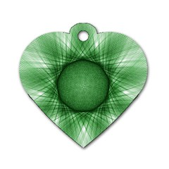 Spirograph Dog Tag Heart (one Sided)  by Siebenhuehner