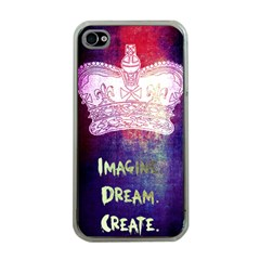 Imagine  Dream  Create  Apple Iphone 4 Case (clear) by TheTalkingDead