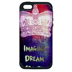 Imagine  Dream  Create  Apple Iphone 5 Hardshell Case (pc+silicone) by TheTalkingDead