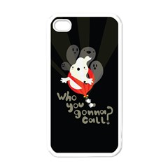 Who You Gonna Call Apple Iphone 4 Case (white) by Contest1771913