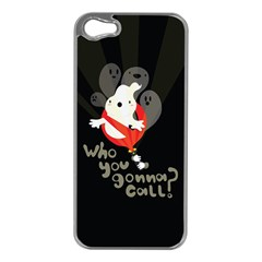 Who You Gonna Call Apple Iphone 5 Case (silver) by Contest1771913