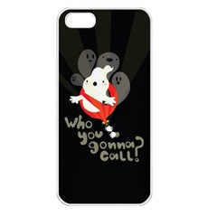 Who You Gonna Call Apple Iphone 5 Seamless Case (white) by Contest1771913