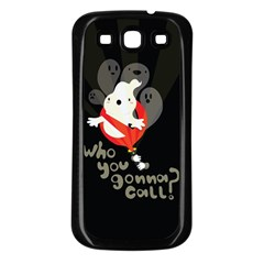 Who you gonna call Samsung Galaxy S3 Back Case (Black) by Contest1771913