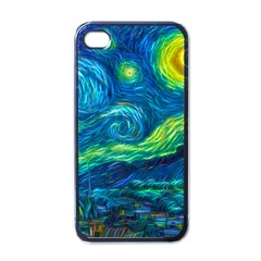Starry Night Apple Iphone 4 Case (black) by Contest1775858a