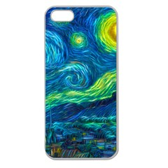 Starry Night Apple Seamless Iphone 5 Case (clear) by Contest1775858a