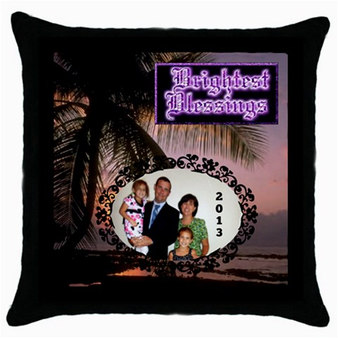 Blessings Pillow Case By Joy Johns   Throw Pillow Case (black)   Mrhjotrhik8t   Www Artscow Com Front