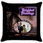 Blessings Pillow Case - Throw Pillow Case (Black)