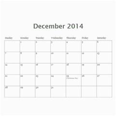Calendar By C1   Wall Calendar 11  X 8 5  (12 Months)   Evygpvisubbm   Www Artscow Com Dec 2014