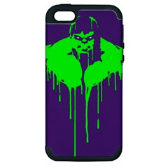 Incredible Green Apple Iphone 5 Hardshell Case (pc+silicone) by Contest1769124