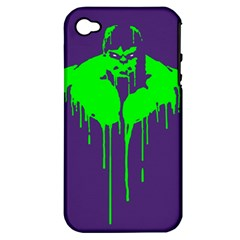 Incredible Green Apple Iphone 4/4s Hardshell Case (pc+silicone) by Contest1769124