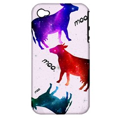 Cowcow   Cow  Apple Iphone 4/4s Hardshell Case (pc+silicone) by TheTalkingDead